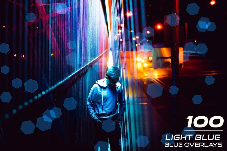 100 Light Blue Bokeh Overlays example image 1