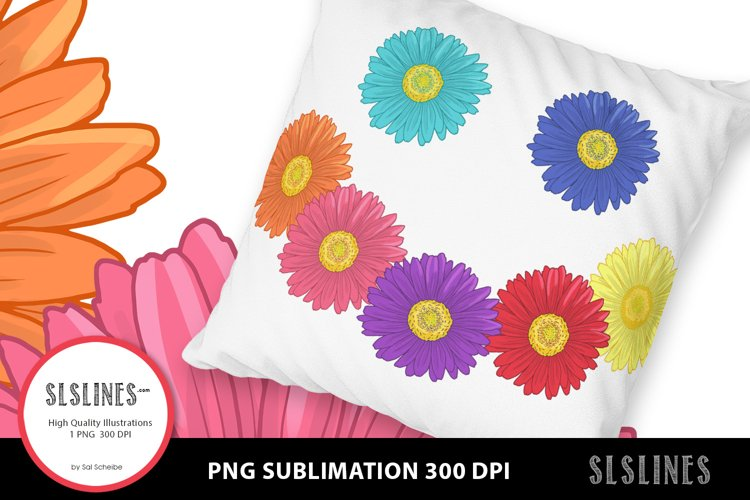 Daisy Smiley Face PNG sublimation example image 1