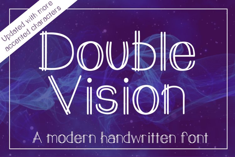 Double Vision- A modern handwritten print font example
