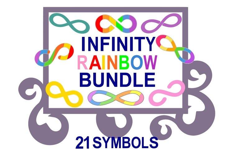 Rainbow Infinity Symbol 21 SVG Cut File Bundle Print N Cut