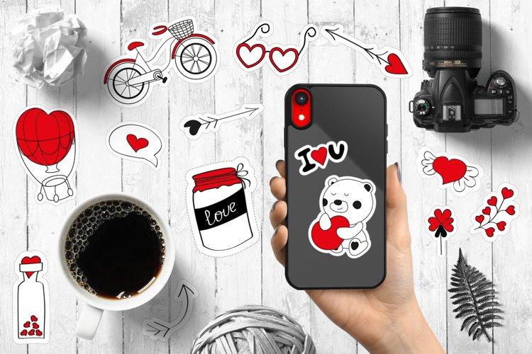 Valentines Day, Wedding, Birthday Stickers