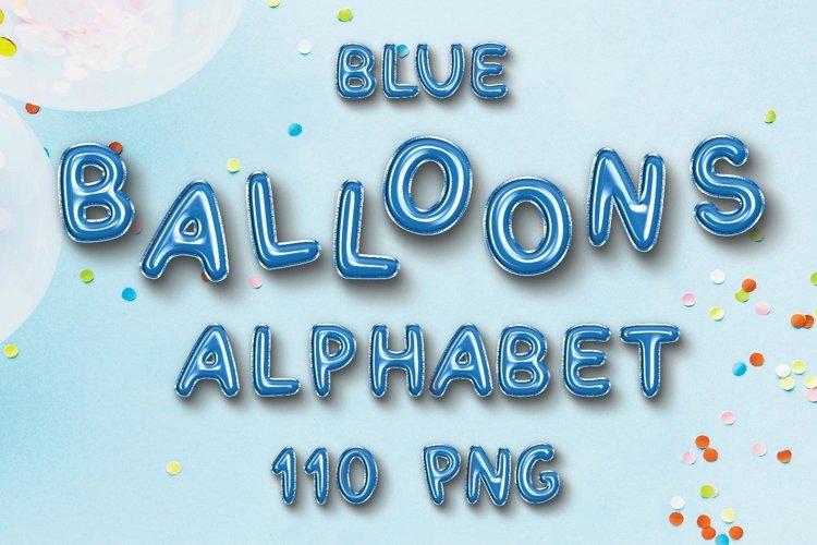 Blue Balloon Alphabet Elements. example image 1