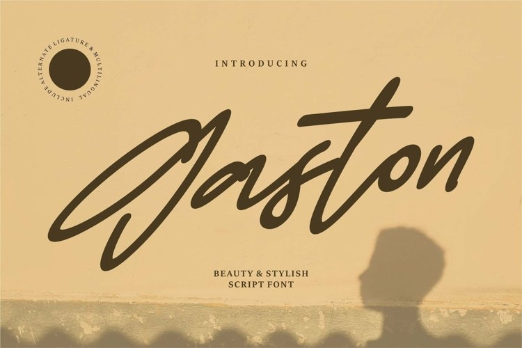 Web Font Gaston - Beauty & Stylish Script Font example image 1