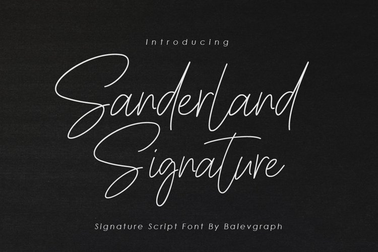 Sanderlaand Signature Script Font