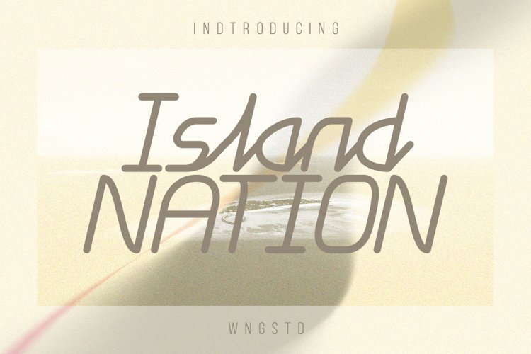 Island Nation - cool, minimalistic and modern display font example image 1