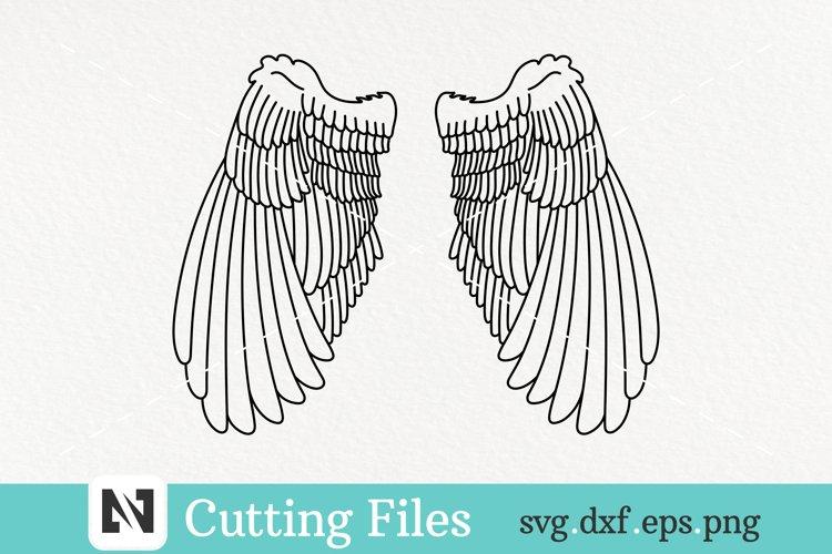 Wings Svg, Simple Angel Wings Svg, Fairy Wings Svg