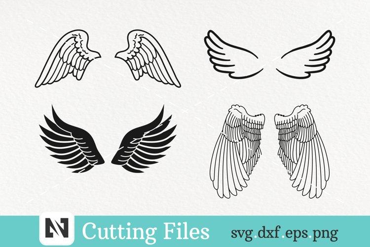 Wings Svg Bundle, Angel Wings Svg Bundle, Memorial Svg