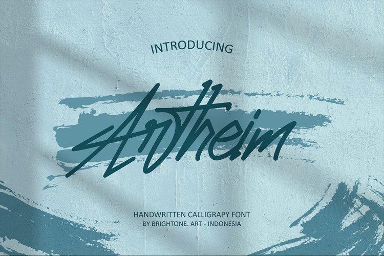 Artheim Handwritten Font example image 1