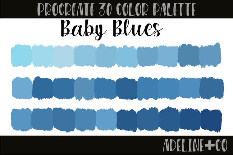 Baby Blues Procreate color palette
