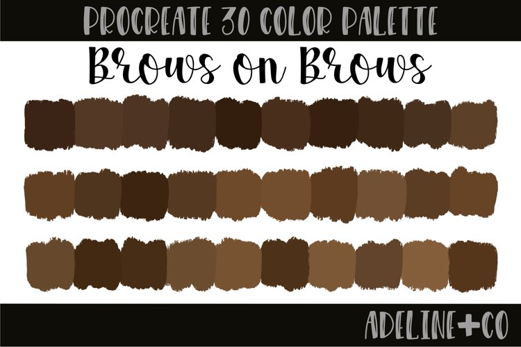 Brows on Brows Procreate color palette