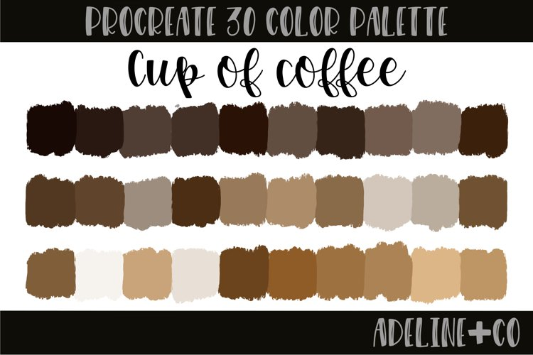 Charcoal Procreate color palette example image 1