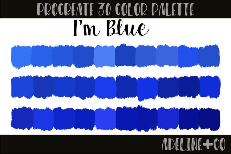 Im Blue Procreate color palette