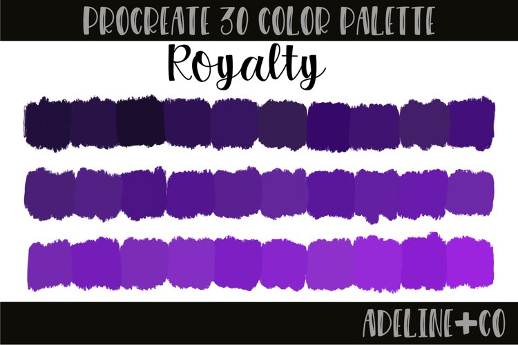 Royalty Procreate Color Palette example image 1