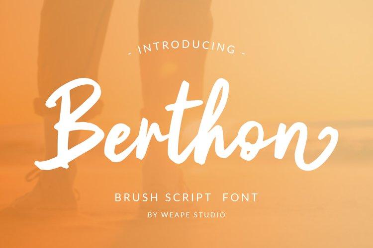 Berthon - Brush Script Font example image 1