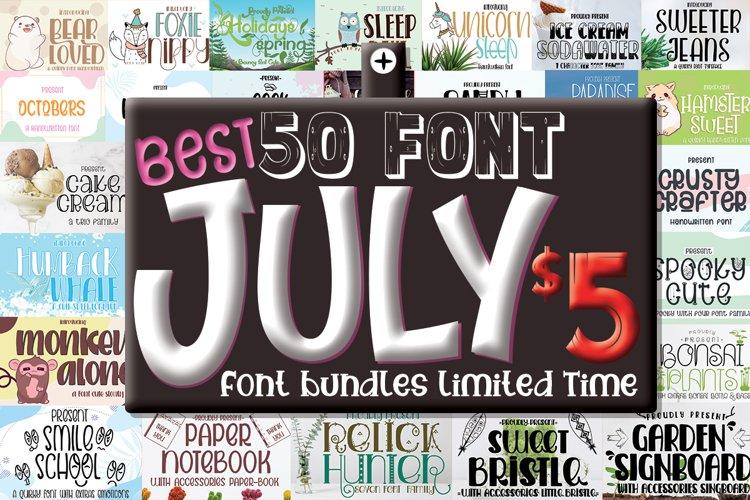 Best July Font Bundle Include 50 Font