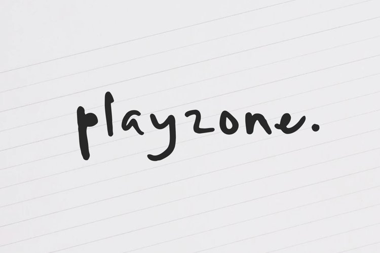 Playzone - Handwritten Doodle Font example image 1