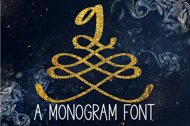 Web Font A Formal Monogram Font - Initials For Wedding example image 1