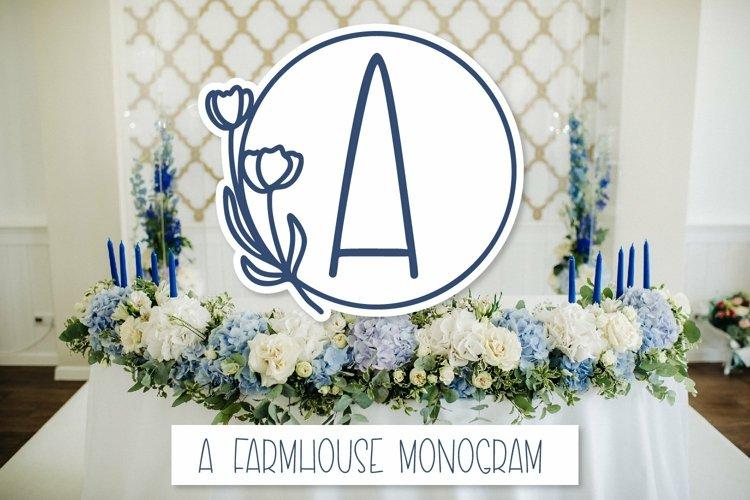 Web Font A Framed Farmhouse Monogram example image 1