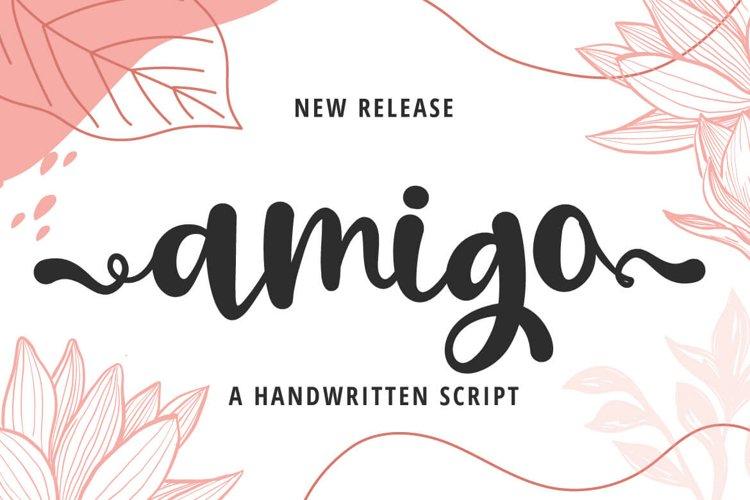 Amigo - a Handwritten Script Font