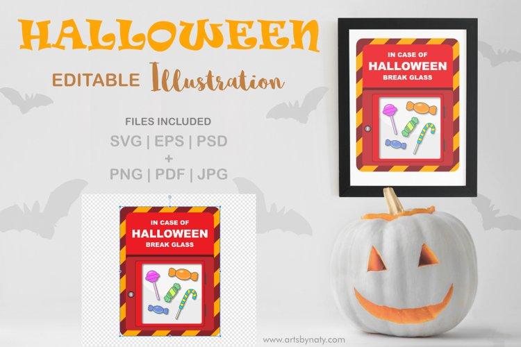 In case of Halloween break glass SVG illustration.
