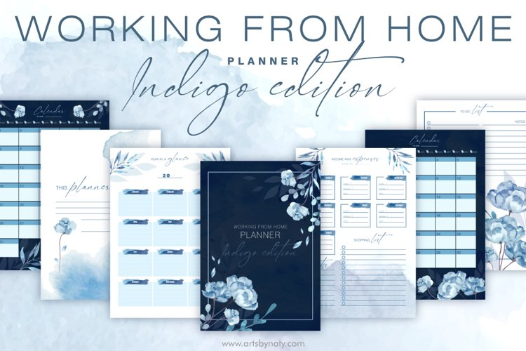 Working from home planner Indigo Edition
