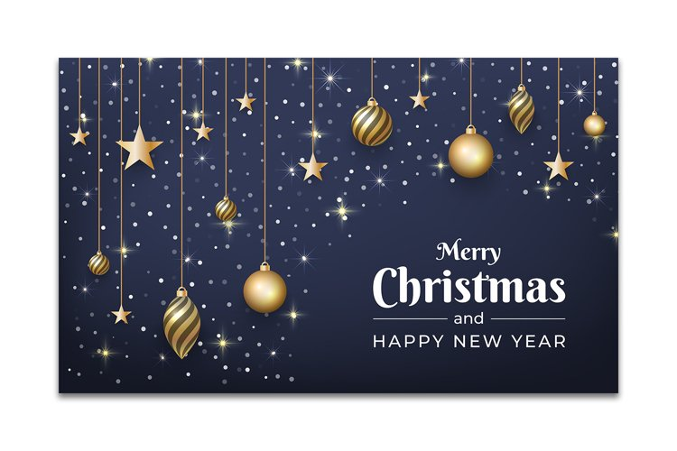 Christmas background design with glitter ornament