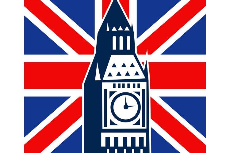 London Big Ben British Union Jack flag example image 1