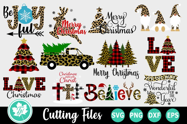 Christmas Leopard Print SVG Bundle example image 1