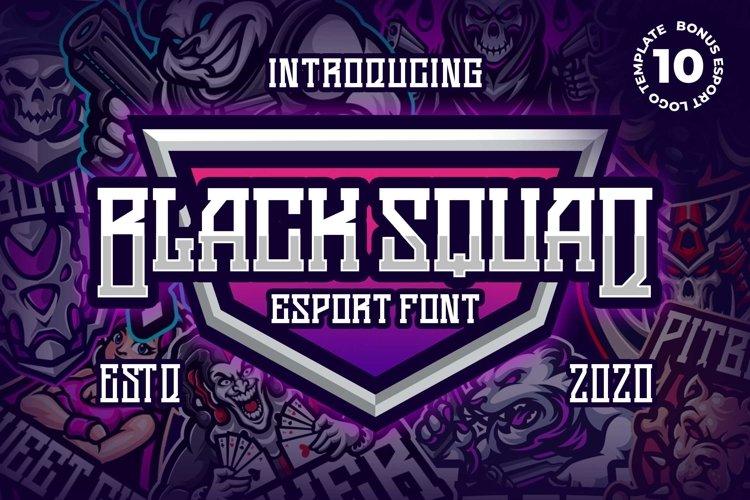 Black Squad Esport Font example image 1