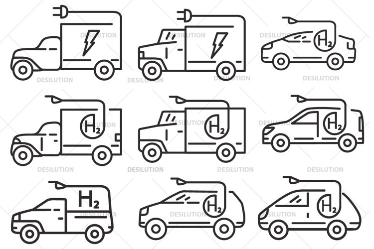 Car hydrogen,electric vehicle. example image 1