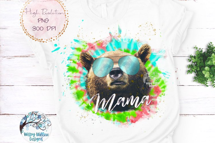 Mama Bear Tie Dye | Mama Bear Sublimation PNG example image 1