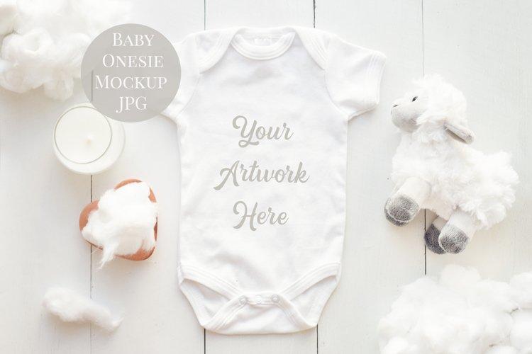 Onesie, Infant bodysuit Mockup White Easter