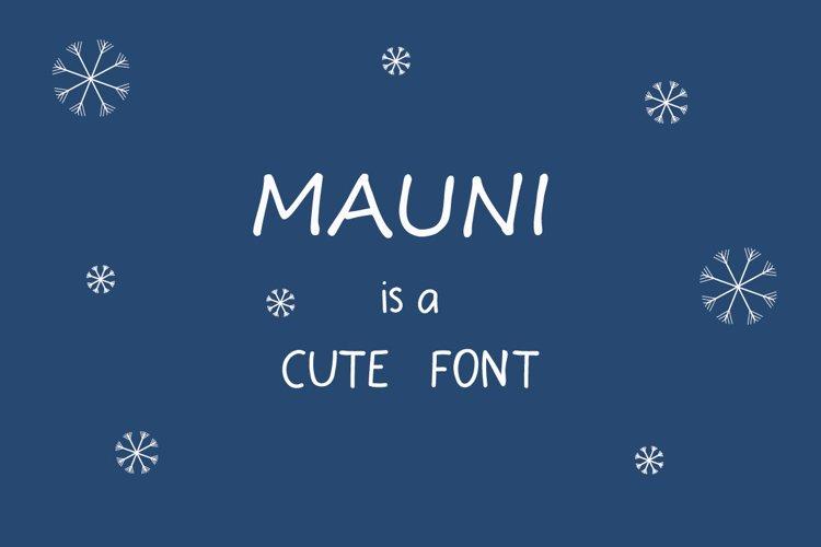 MAUNI Simple Handwritten