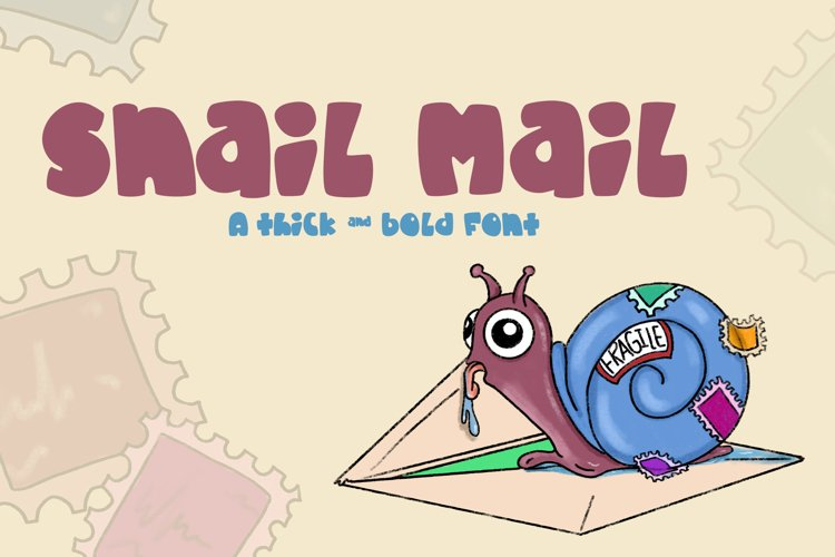Snail Mail| A fat and chunky font! example image 1