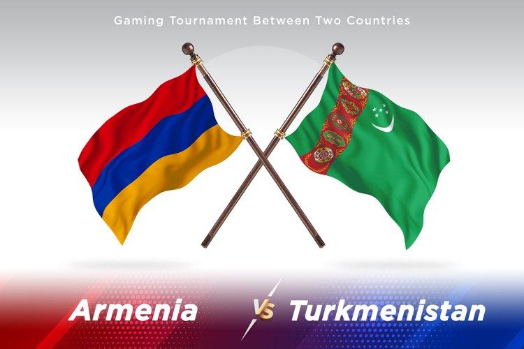 Armenia versus Turkmenistan Two Flags example image 1