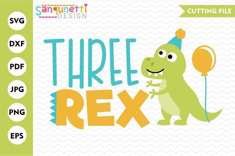 Three rex dinosaur birthday SVG, Second birthday