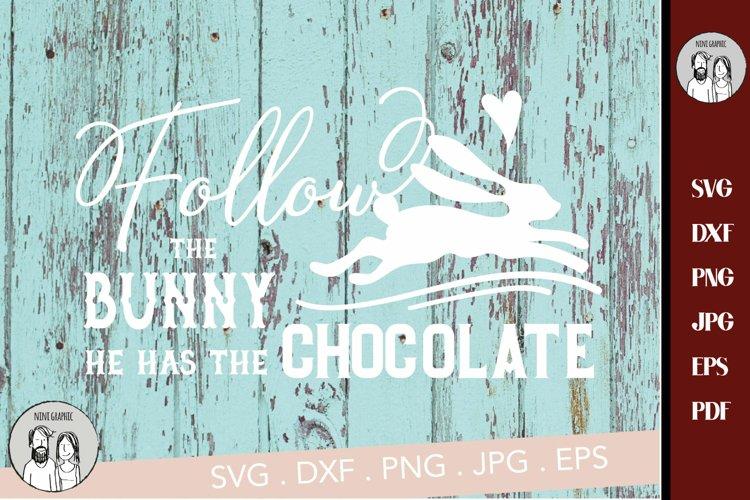 Chocolate Easter Bunny SVG | Follow The Bunny