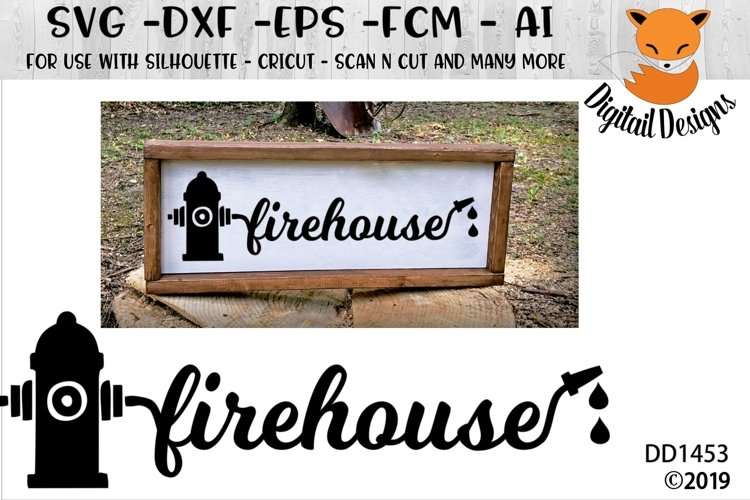 Firehouse SVG - Silhouette - Cricut - Scan N Cut