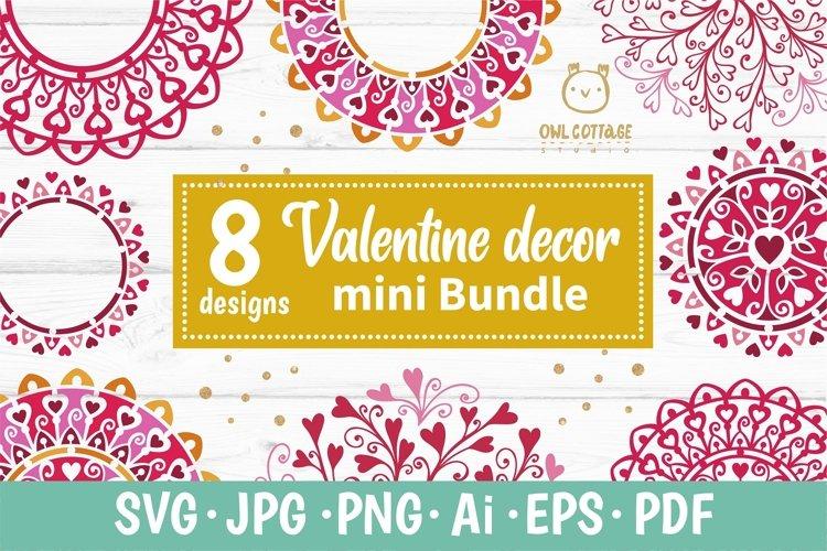 Valentine Mandalas and Monograms with hearts svg Bundle