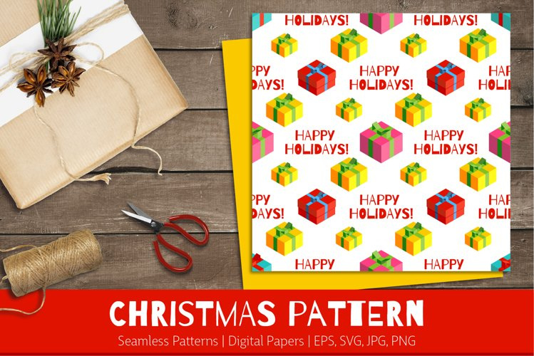 Christmas Gifts | Seamless Patterns | Digital Papers example image 1
