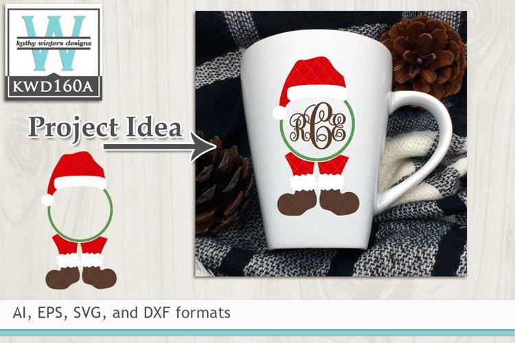 Christmas SVG - Christmas Monogram example image 1