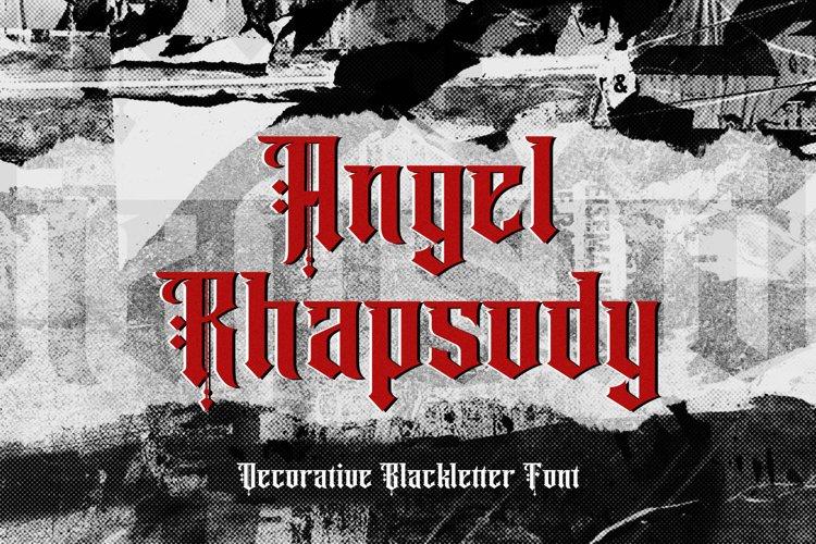 Angel Rhapsody - Blackletter Decorative Font example image 1