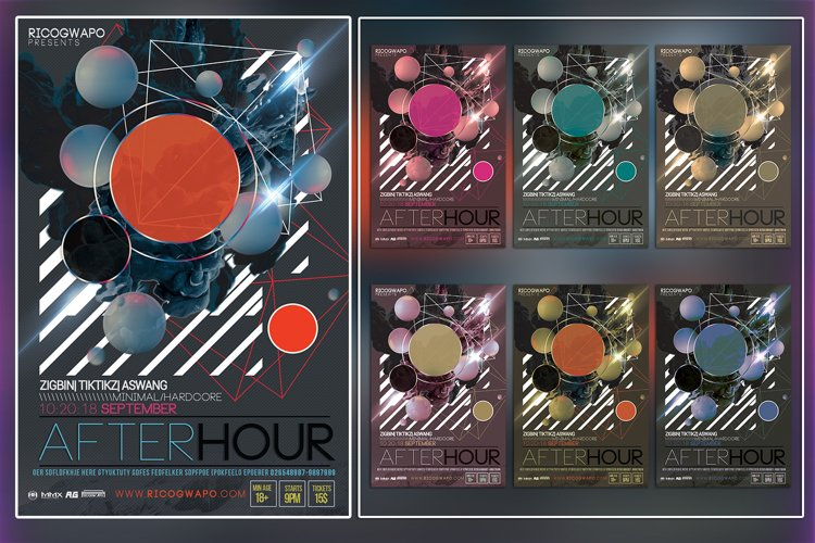 After Hour Photoshop Flyer Template example image 1