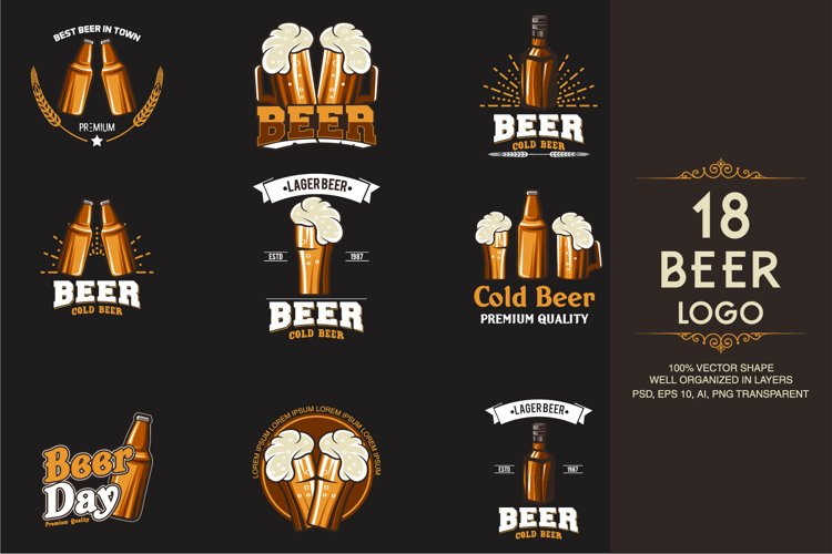 18 Beer Logotypes and Badges example image 1