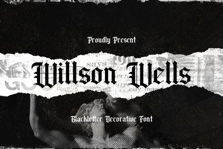 Wilson Wells - Blackletter Decorative Font example image 1