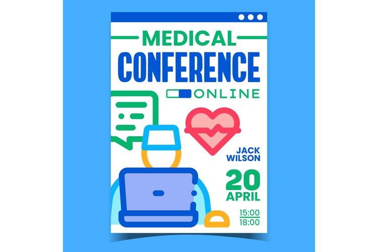 Online Medical Conference Promotion Banner Vector