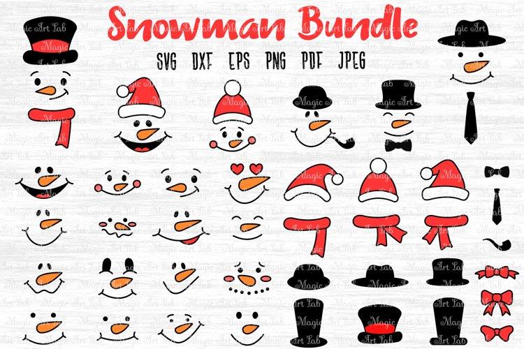 Snowman face SVG, Christmas Svg, Snowman svg, Snowman bundle