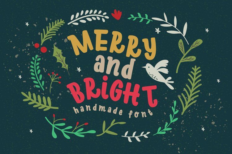 Merry Bright Typeface example image 1