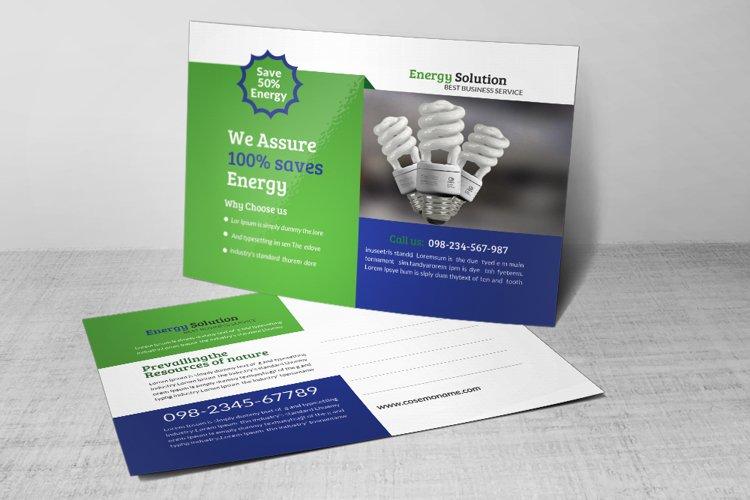 Energy Saving Postcard Template example image 1
