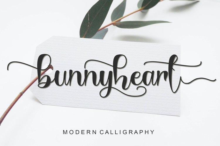 Bunnyheart - Modern Calligraphy example image 1